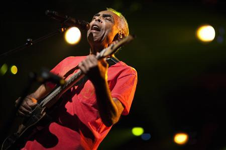 Brazilian musician Gilberto Gil performs during the 46th Montreux Jazz Festival July 10, 2012. REUTERS/Valentin Flauraud
