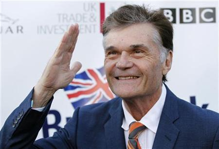 Actor Fred Willard poses at the Royal Wedding-themed champagne launch of BritWeek at the British Consul General's official residence in Los Angeles, April 26, 2011. REUTERS/Danny Moloshok