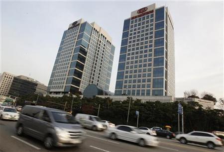The headquarters of Hyundai Motor and Kia Motors are seen in Seoul, November 16, 2011. REUTERS/Jo Yong-Hak