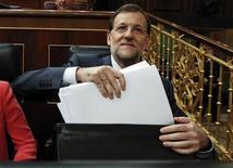 Primeiro-ministro da Espanha, Mariano Rajoy, no Parlamento em Madri. 11/07/2012 REUTERS/Andrea Comas