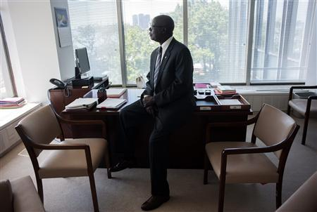 United Nations Special Adviser of the Secretary-General on the Prevention of Genocide Francis Deng poses for a portrait in his office in New York, June 28, 2012. South Sudan is primarily the creation of its own people. It was southern Sudanese leaders who fought for autonomy, and more than two million southern Sudanese who paid for that freedom with their lives. U.S. President George W. Bush, who set out to end Africa's Longest-running civil war, also played a big role, as did modern-day abolitionists, religious groups, human rights organizations and members of the U.S. Congress. But the most persistent outside force in the creation of the world's newest state was the Council, a tightly knit group never numbering more than seven people, which in the era before email, began gathering regularly at Otello, a restaurant near Washington's DuPont Circle. Picture taken June 28, 2012. REUTERS/Keith Bedford