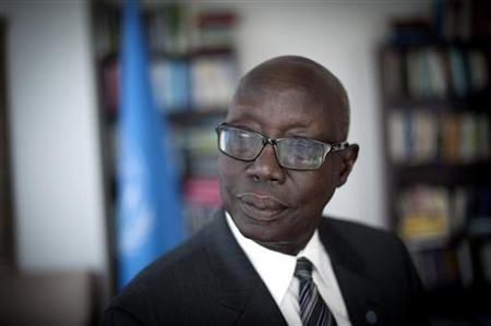 United Nations Special Adviser of the Secretary-General on the Prevention of Genocide Francis Deng poses for a portrait in his office in New York, June 28, 2012. South Sudan is primarily the creation of its own people. REUTERS/Keith Bedford