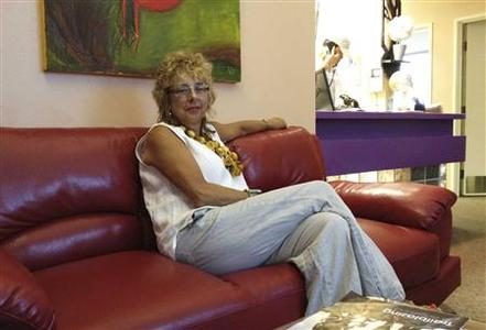 Diane Derzis, Owner of the Jackson Women's Health Organization is pictured sitting in the reception area of the clinic, in Jackson, Mississippi, July 11, 2012. REUTERS/Emily Le Coz