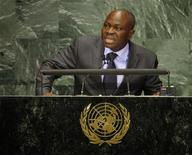 Togo's Prime Minister Gilbert Fossoun Houngbo speaks during the Millennium Development Goals Summit at United Nations headquarters in New York, September 20, 2010. REUTERS/Chip East