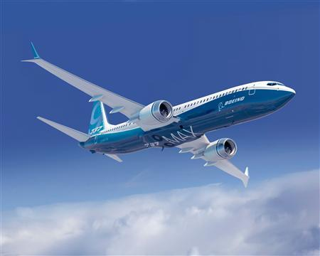 A Boeing 737 MAX airplane is pictured in this undated handout photo obtained by Reuters July 5, 2012. REUTERS/Boeing/Handout
