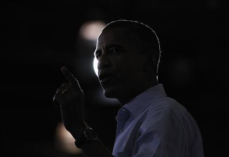 U.S. President Barack Obama speaks during a campaign rally at Phoebus High School in Hampton, Virginia, July 13, 2012. REUTERS/Jason Reed
