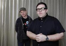 Actors Simon Pegg and Nick Frost pose for a portrait in New York City, March 7, 2011. REUTERS/Jessica Rinaldi