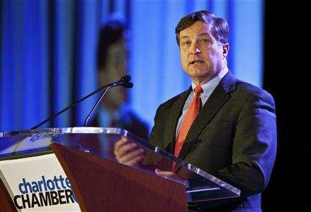 Richmond Federal Reserve Bank President Jeffrey Lacker speaks during the Charlotte Chamber's Economic Outlook Conference in Charlotte, North Carolina in this December 19, 2011, file photo. REUTERS/Chris Keane/Files
