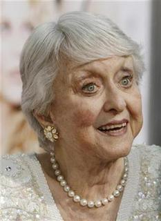 Actress Celeste Holm poses at the premiere of the film ''The Women'', directed by Diane English, in Los Angeles September 4, 2008. REUTERS/Fred Prouser