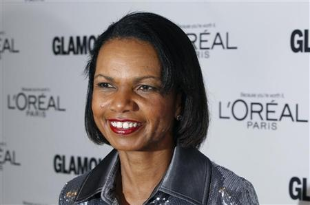 Former U.S. Secretary of State Condoleezza Rice arrives to attend the 21st annual Glamour Magazine Women of the Year award ceremony in New York November 7, 2011. REUTERS/Lucas Jackson