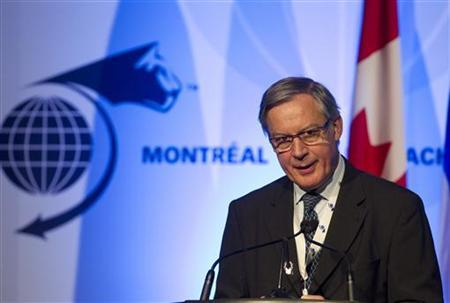 Bank of France Governor Christian Noyer addresses the International Economic Forum of the Americas in Montreal, Quebec June 11, 2012. REUTERS/Christinne Muschi