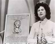 Kitty Wells is inducted into CMA's Country Music Hall of Fame in 1976 on the CMA Awards.REUTERSCountry Music Association/Handout