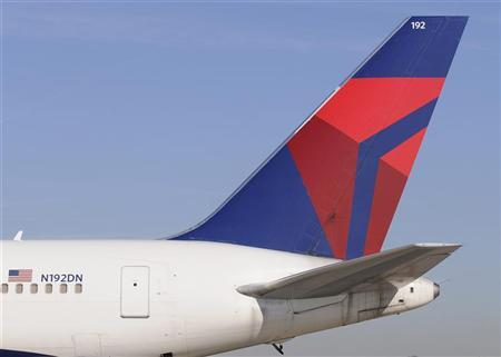 A Delta Airlines Boeing 767-300 ER tail at Hartsfield-Jackson International Airport in Atlanta , Georgia, December 9, 2011. REUTERS/Tami Chappell