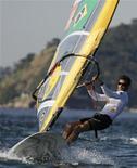 Ricardo Winicki, o Bimba, que participará de sua quarta Olimpíada em Londres, treina no Rio de Janeiro em julho de 2007. Foto de arquivo. REUTERS/Sergio Moraes