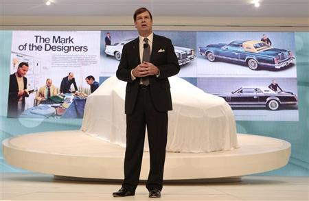 Jim Farley, Lincoln's Group Vice President for Marketing, speaks during the final press preview day for the North American International Auto Show in Detroit, Michigan, January 10, 2012. REUTERS/Rebecca Cook