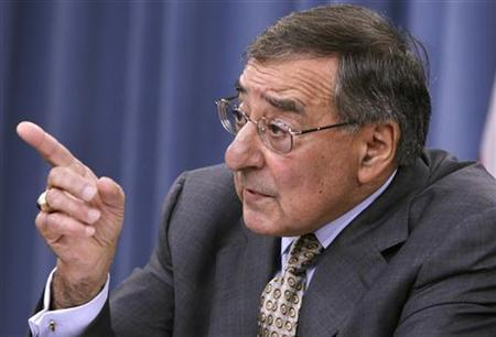U.S. Secretary of Defense Leon Panetta speaks at a news conference at the Pentagon in Washington June 29, 2012. REUTERS/Yuri Gripas