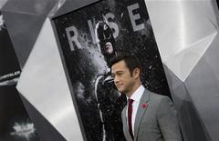 "Cast member Joseph Gordon-Levitt attends the world premiere of the movie ""The Dark Knight Rises"" in New York July 16, 2012. REUTERS/Andrew Kelly"