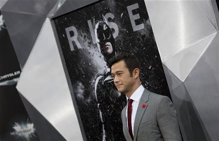 Cast member Joseph Gordon-Levitt attends the world premiere of the movie ''The Dark Knight Rises'' in New York July 16, 2012. REUTERS/Andrew Kelly