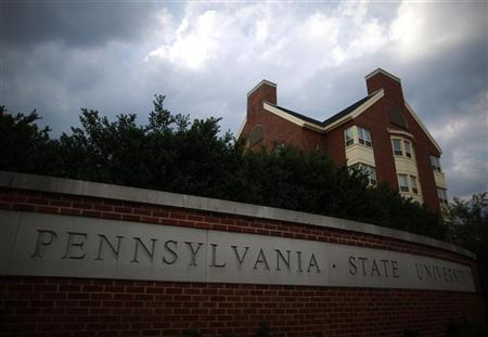 Buildings are seen on the campus of Pennsylvania State University in State College, Pennsylvania July 11, 2012. REUTERS/Eric Thayer