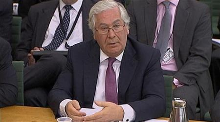 Bank of England chief Mervyn King speaks before a parliamentary committee in London in this still image taken from video July 17, 2012. REUTERS/UK Parliament TV via Reuters TV
