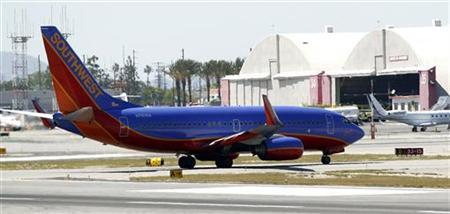 A Southwest Airlines 737-700 taxis at Bob Hope Airport in Burbank, California April 4, 2011. REUTERS/Mario Anzuoni