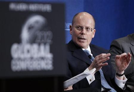 UnitedHealth Chief Executive Officer Stephen Hemsley takes part in a panel discussion titled ''Getting From Care to Cure'' at the Milken Institute Global Conference in Beverly Hills, California May 1, 2012. REUTERS/Danny Moloshok