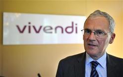 O presidente-executivo da Vivendi, Jean-Bernard Levy, fala durante uma apresentação em Paris, na França. 01/09/2010 REUTERS/Philippe Wojazer