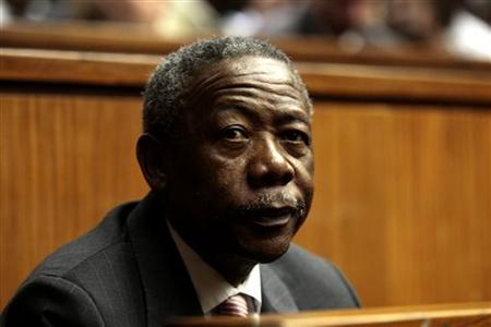 Jackie Selebi , the former head of South Africa's police force, looks on during his sentencing at a South African court in Johannesburg August 3, 2010. Reuters/Werner Beukes/Pool