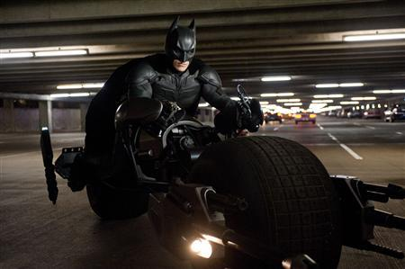 A scene from ''The Dark Knight Rises''. REUTERS/Warner Bros.