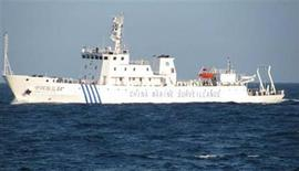 A handout picture of Chinese marine surveillance ship, offshore of Vietnam's central Phu Yen province May 26, 2011 and released by Petrovietnam May 29, 2011. REUTERS/Handout
