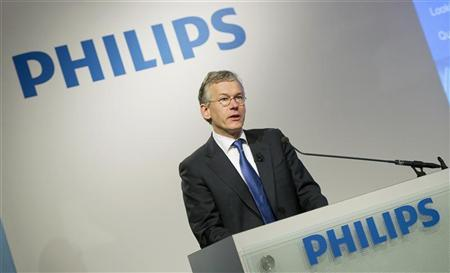 Frans van Houten, president and CEO of Philips, speaks during the presentation of the 2011 full-year results in Amsterdam January 30, 2012. REUTERS/Paul Vreeker/United Photos