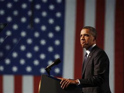 U.S. President Barack Obama speaks at the 113th VFW National Convention in Reno, Nevada, July 23, 2012. REUTERS/Larry Downing