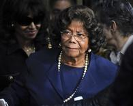 "Michael Jackson's mother Katherine Jackson leaves the sentencing hearing of Dr. Conrad Murray, who was convicted of involuntary manslaughter in the death of her son pop star Michael Jackson, in Los Angeles, California in this November 29, 2011 file photo. Jermaine Jackson, brother of late pop singer Michael Jackson, said on July 22, 2012 that his mother, Katherine, was not missing as other relatives reported to authorities this weekend, but resting with family in Arizona on ""doctor's advice."" REUTERS/Gus Ruelas/Files"