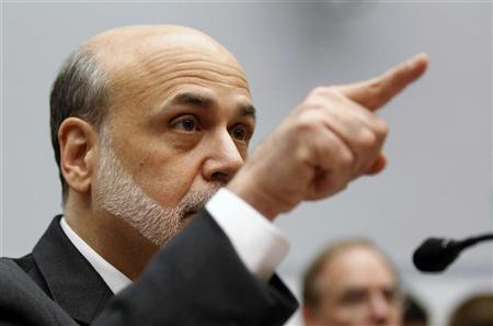 U.S. Federal Reserve Chairman Ben Bernanke testifies before the House Committee on the Financial Services semi-annual monetary policy report on Capitol Hill in Washington, July 18, 2012. REUTERS/Jason Reed