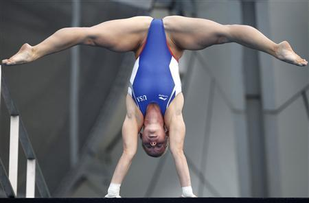 Brittany Viola of the U.S. prepares to dive in the women's 10m platform diving final at the 14th FINA World Championships in Shanghai in this July 21, 2011 file picture. REUTERS/Bobby Yip