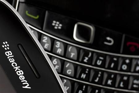 Research in Motion (RIM) BlackBerry smartphone handsets are pictured in this illustration picture taken in Lavigny, July 21, 2012. Picture taken July 21, 2012. REUTERS/Valentin Flauraud