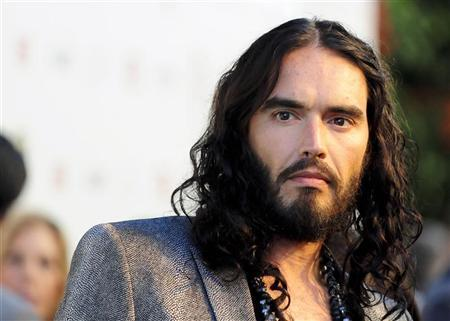 British actor Russell Brand arrives at the Hollywood FX Summer Comedies Party in Los Angeles, California June 26, 2012. REUTERS/Gus Ruelas