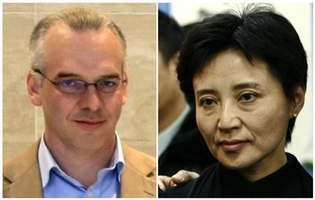 A combination of two photographs shows British businessman Neil Heywood (L) at an Aston Martin dealership in Beijing, May 26, 2010, and Gu Kailai, wife of China's former Chongqing Municipality Communist Party Secretary Bo Xilai (not pictured), at a mourning held for her father-in-law Bo Yibo, former vice-chairman of the Central Advisory Commission of the Communist Party of China, in Beijing January 17, 2007. China will try Gu on charges of murdering Heywood, state media said on July 26, 2012 in the latest turn in a scandal that has rocked the government in Beijing and could bring Gu the death penalty. REUTERS/Stringer/Files