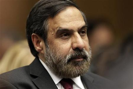 Minister for Trade Anand Sharma looks on during the opening of the 8th World Trade Organization Ministerial Conference in Geneva December 15, 2011. REUTERS/Denis Balibouse/Files