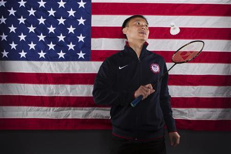 Badminton player Tony Gunawan poses for a portrait during the 2012 U.S. Olympic Team Media Summit in Dallas, Texas May 14, 2012. REUTERS/Lucas Jackson