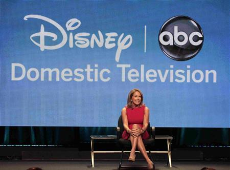 Host Katie Couric attends a panel for ''Katie'' during the Disney/ABC Television Group portion of the Television Critics Association Summer press tour in Beverly Hills, California July 26, 2012. REUTERS/Mario Anzuoni