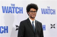 "Cast member Richard Ayoade poses at the premiere of ""The Watch"" at the Grauman's Chinese theatre in Hollywood, California July 23, 2012. The movie opens in the U.S. on July 27. REUTERS/Mario Anzuoni"