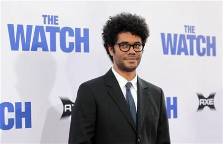 Cast member Richard Ayoade poses at the premiere of ''The Watch'' at the Grauman's Chinese theatre in Hollywood, California July 23, 2012. The movie opens in the U.S. on July 27. REUTERS/Mario Anzuoni