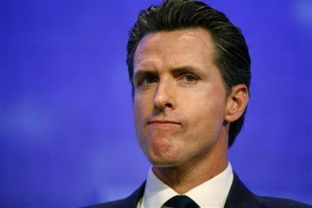 Gavin Newsom, Lieutenant Governor of the State of California, attends a discussion regarding megacities at the Clinton Global Initiative in New York, September 20, 2011. REUTERS/Allison Joyce