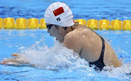 China's Ye Shiwen swims to a first place finish in her women's 200m individual medley heat at the London 2012 Olympic Games at the Aquatics Centre July 30, 2012. REUTERS/Toby Melville