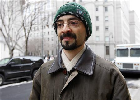 Sergey Aleynikov departs federal court in New York in this February 17, 2010 file photo. REUTERS/Chip East/Files