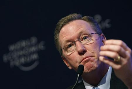 Timothy P. Flynn attends a session at the World Economic Forum (WEF) in Davos January 29, 2009. REUTERS/Pascal Lauener