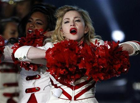 Madonna performs on stage as part of her MDNA tour at Murrayfield Stadium in Edinburgh, Scotland July 21, 2012. REUTERS/David Moir
