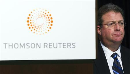 Thomson Reuters President and CEO James Smith attends their annual general meeting for shareholders in Toronto, May 16, 2012. REUTERS/Mark Blinch