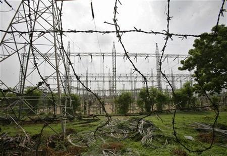 A general view of an electric power station on the outskirts of Jammu July 31, 2012. REUTERS/Mukesh Gupta